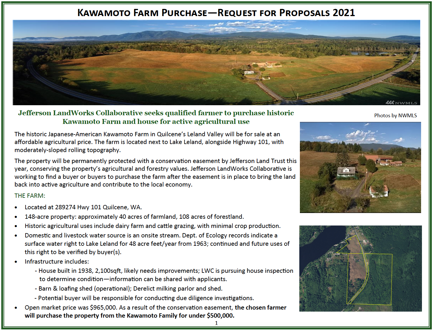 Click on the photo to read the pdf document Request for Proposal in English.